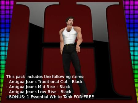 Antigua Jeans - Black - Multi-Size Pack