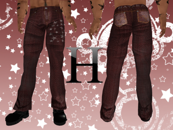 Starry Night Jeans Mid Rise - Crimson