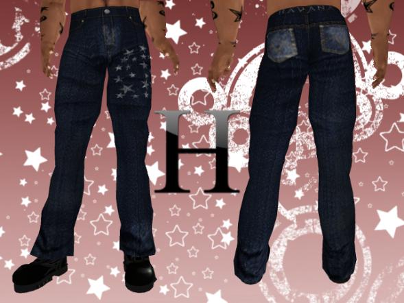 Starry Night Jeans Tradicional Cut - Navy
