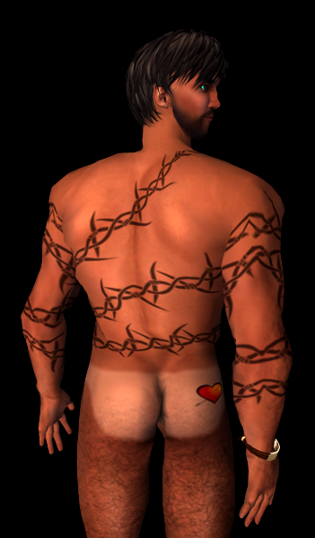 Tan Line With Heart Tattoo (for tanned skins)