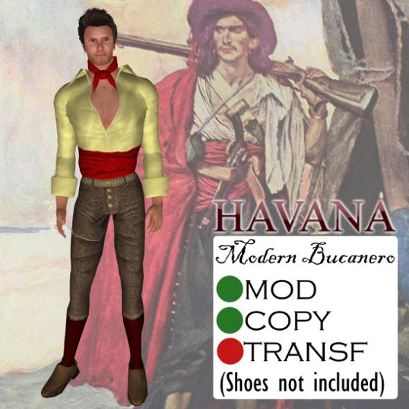 Havana's Modern Bucanero Outfit