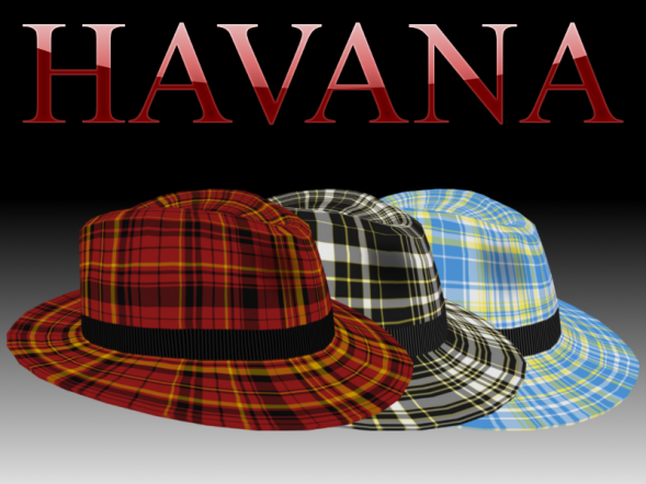 The Havana Fedora: buy the hat and get these three textures