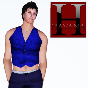 Andy Vest in blue